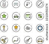 line vector icon set   lock...