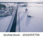 Countryside On Snowy Winter Da...
