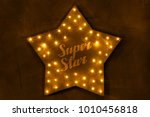 hand crafted cardboard star... | Shutterstock . vector #1010456818