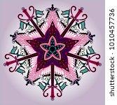 beautiful mandala. round... | Shutterstock .eps vector #1010457736
