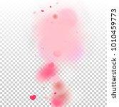 hearts confetti background. st. ... | Shutterstock .eps vector #1010459773
