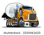 vector cartoon mixer truck... | Shutterstock .eps vector #1010461633