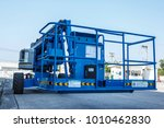 boom lift with a telescopic arm ... | Shutterstock . vector #1010462830