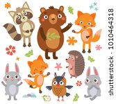 funny animals set | Shutterstock .eps vector #1010464318