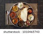 Typical indian food from Jaipur - thali rajasthani
