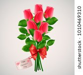 valentine s day red roses... | Shutterstock .eps vector #1010469310