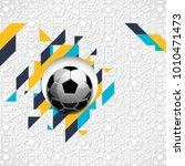 football soccer ball abstract...   Shutterstock .eps vector #1010471473