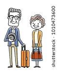 senior couple  travel | Shutterstock .eps vector #1010473600