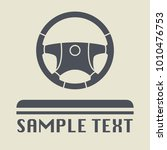 steering wheel icon or sign ... | Shutterstock .eps vector #1010476753