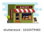 bakery shop house. cafe ... | Shutterstock .eps vector #1010479483