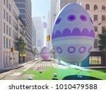3d rendering. arrival of the... | Shutterstock . vector #1010479588