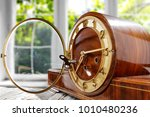 spring time and clock of brown... | Shutterstock . vector #1010480236