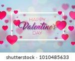 happy valentines day design... | Shutterstock . vector #1010485633