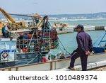 essaouira  morocco   juny 11 ... | Shutterstock . vector #1010489374