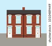 victorian typical uk terraced... | Shutterstock .eps vector #1010489449