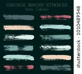 watercolor  ink or paint brush... | Shutterstock .eps vector #1010489548