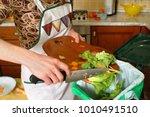 detail of a female hand...   Shutterstock . vector #1010491510