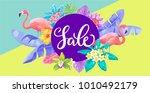 tropical hawaiian horizontal... | Shutterstock .eps vector #1010492179