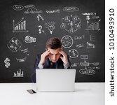 creative business man standing... | Shutterstock . vector #1010493910