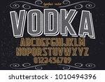 vintage font typeface... | Shutterstock .eps vector #1010494396