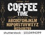 vintage font typeface... | Shutterstock .eps vector #1010494399