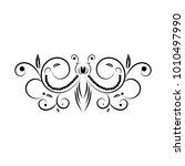 swirling decorative floral... | Shutterstock .eps vector #1010497990
