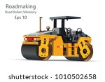 road rollers vibratory a motor... | Shutterstock .eps vector #1010502658