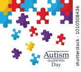 autism awareness poster with... | Shutterstock .eps vector #1010508436