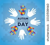 autism awareness concept with... | Shutterstock .eps vector #1010508460