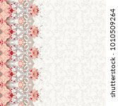 card with border. ornament with ... | Shutterstock . vector #1010509264
