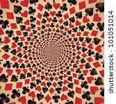 card suit. hearts  diamonds ... | Shutterstock .eps vector #101051014
