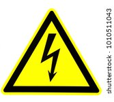 Warning Sign For Electric Shock....