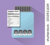 bottle glass nutrition facts... | Shutterstock .eps vector #1010511634