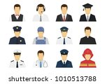 professions set avatar icons.... | Shutterstock .eps vector #1010513788