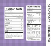 nutrition facts food labels... | Shutterstock .eps vector #1010514160