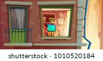 house facade element vector...