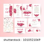 wedding collection. spring... | Shutterstock .eps vector #1010521069