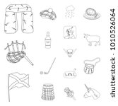 country scotland outline icons... | Shutterstock .eps vector #1010526064