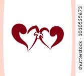 vector illustration of two... | Shutterstock .eps vector #1010535673