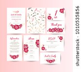 wedding collection. spring... | Shutterstock .eps vector #1010535856