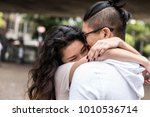 young asian couple embracing | Shutterstock . vector #1010536714