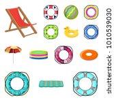 multicolored swimming circle... | Shutterstock .eps vector #1010539030