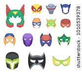 carnival mask cartoon icons in... | Shutterstock .eps vector #1010539378