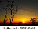 Sunrise Behind A Silhouette...