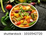 karnataka curry dish  delicious ... | Shutterstock . vector #1010542720