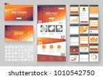 website template  one page... | Shutterstock .eps vector #1010542750
