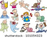 cartoon illustration of babies... | Shutterstock .eps vector #101054323