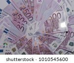 a lot of money in euros. stack... | Shutterstock . vector #1010545600