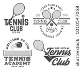 set of tennis club badges.... | Shutterstock .eps vector #1010547058