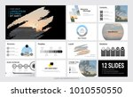 presentation slide template for ... | Shutterstock .eps vector #1010550550